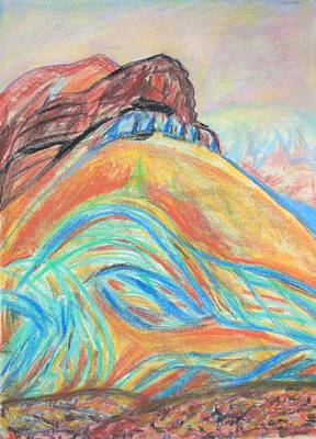 Drawing - The Strange Mount Karkom by Esther Newman-Cohen