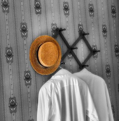 The Straw Boater Vintage Hat Art Print