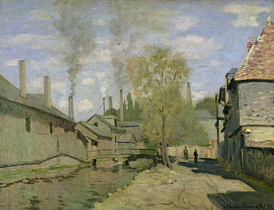 The Stream Of Robec At Rouen, 1872 Print by Claude Monet