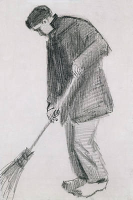 Proletariat Drawing - The Street Cleaner by Vincent van Gogh
