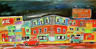 Litvack Painting - The Street by Michael Litvack