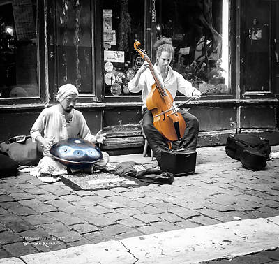 Photograph - The Street Musicians by Stwayne Keubrick