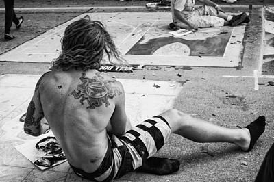 The Street Painter Art Print by Armando Perez