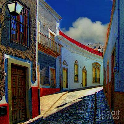 The Street To Diego Rivera's Parents House Art Print by John  Kolenberg