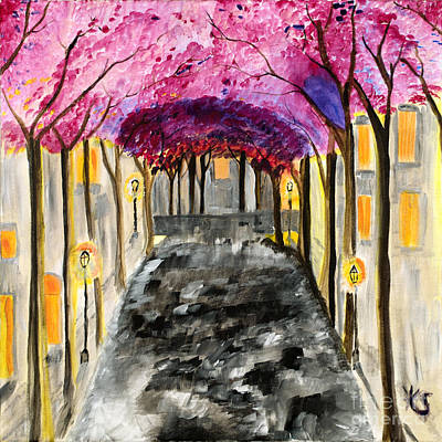 Fauna Painting - The Street Where You Live  by Katy  Scott