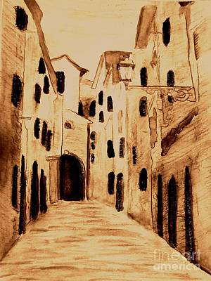Mixed Media - The Streets Of Italy by Desiree Paquette