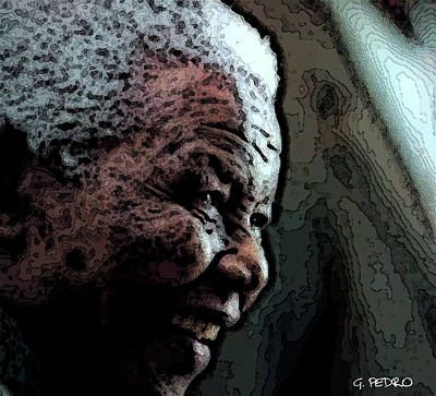 Painting - The Strength Of Mandela by George Pedro