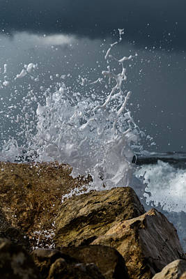 Photograph - The Strength Of The Sea - II by Michael Goyberg