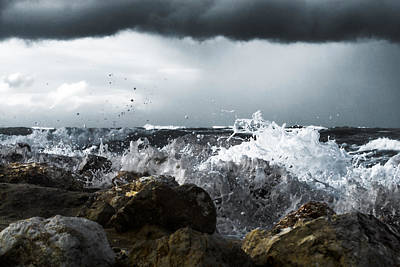 Photograph - The Strength Of The Sea - 2 by Michael Goyberg