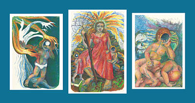 The Strength Tryptic Art Print by Melinda Dare Benfield