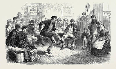 Collier Drawing - The Strike In South Wales Amusements Of The Colliers by English School