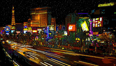 Signe Painting - The Strip by David Lee Thompson