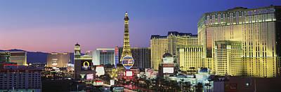Aladdin Photograph - The Strip Dusk Las Vegas Nv Usa by Panoramic Images