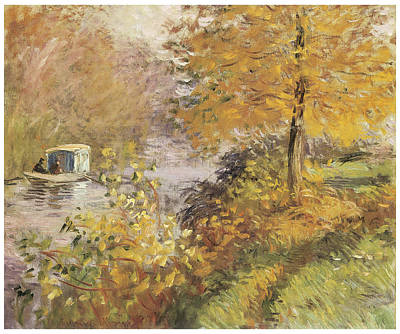 The Studio Boat Art Print by Claude Monet