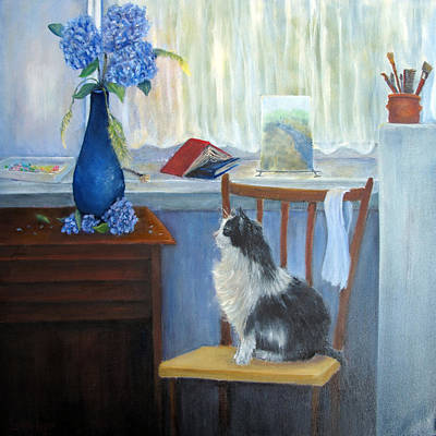 Painting - The Studio Cat by Loretta Luglio