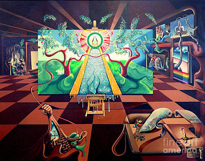 Painting - The Studio - Tree Of Life by Peter Olsen