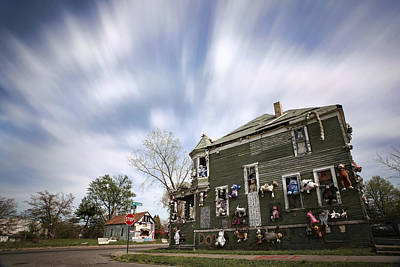 Photograph - The Stuffed Animal Doll House At The Heidelberg Project - Detroit Michigan by Gordon Dean II