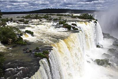 The Stunning Falls Of Iguacu Brazil Side Art Print