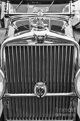 Custom Grill Photograph - The Stutz Classic Car Front End At The Concours D Elegance. by Jamie Pham