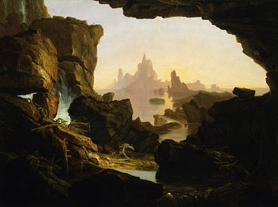 The Deluge Painting - The Subsiding Of The Waters Of The Deluge by Thomas Cole