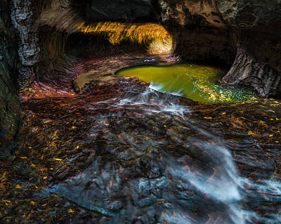 Zion National Park Photograph - The Subway At Zion National Park by Larry Marshall