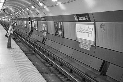 Photograph - The Subway Lean by John McGraw