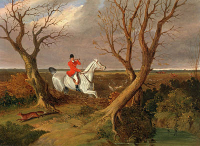 The Suffolk Hunt Gone Away The Suffolk Hunt - Gone Away Print by Litz Collection
