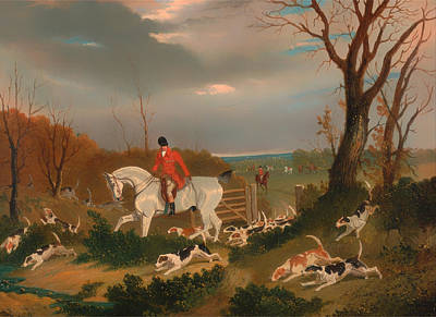 Suffolk Painting - The Suffolk Hunt by Mountain Dreams