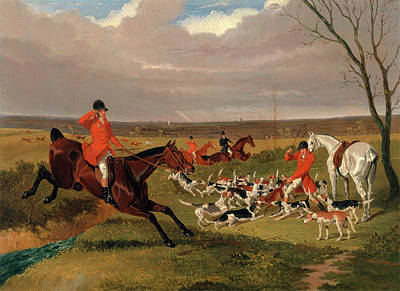 The Suffolk Hunt  The Death, John Frederick Herring Print by Litz Collection