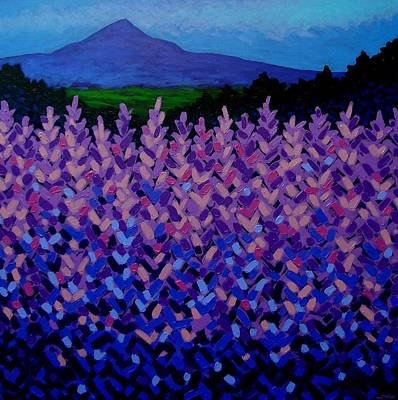 Emotive Painting - The Sugar Loaf - Wicklow - Ireland by John  Nolan