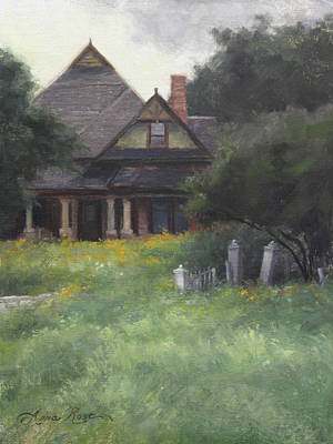 Historic Home Painting - The Sullivan House by Anna Rose Bain