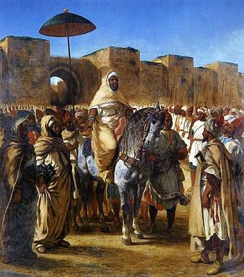 The Sultan Of Morocco Print by Eugene Delacroix