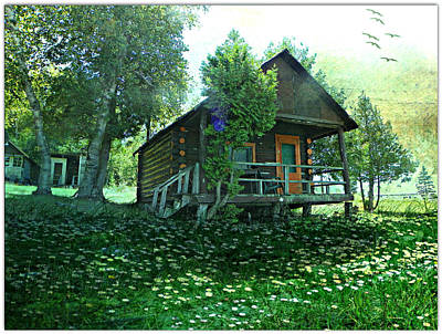 The Summer Cabin Art Print by Dianne  Lacourciere