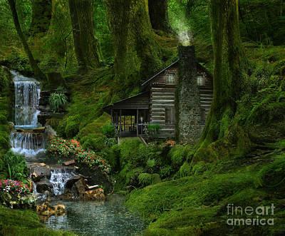 The Summer Cottage Art Print by Lynn Jackson