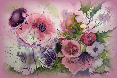 John Smeulders Painting - The Summer Garden by John Smeulders