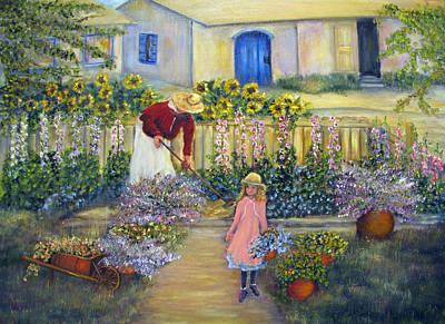 Painting - The Summer Garden by Loretta Luglio