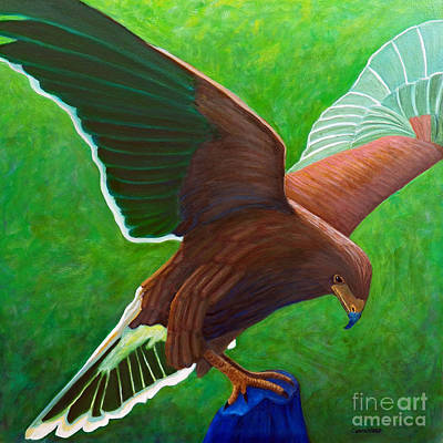 Eagle Painting - The Sun Above by Brian  Commerford