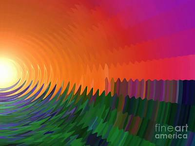 Painting - The Sun Drops Into The Horizon by Pet Serrano