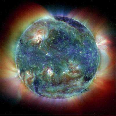Stellar Photograph - The Sun by Esa/nasa/soho
