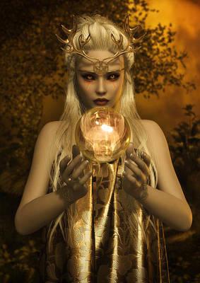 Elven Digital Art - The Sun Goddess by Rachel Dudley