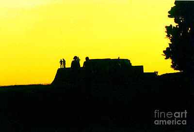 Photograph - The Sun Goes Down At The Fort by Ethna Gillespie