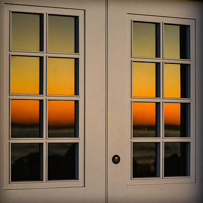 Photograph - The Sun Goes Down Beyond The Window by Ronda Broatch