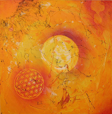 Origins Of Life Painting - The Sun In Harmony by Neo Dietrich