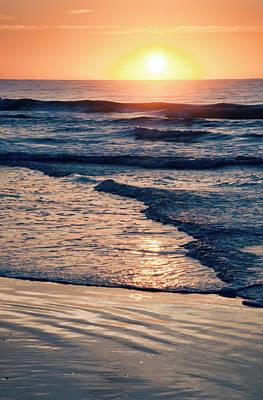 Sun Rising Over The Beach Art Print