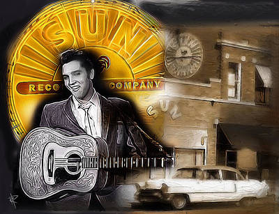 Elvis Presley Mixed Media - The Sun King by Russell Pierce