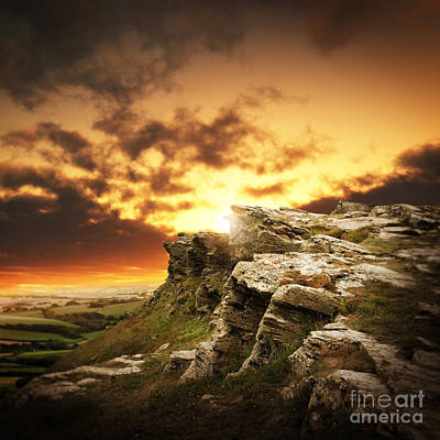 Art Print featuring the photograph The Sun Over Mountains by Boon Mee