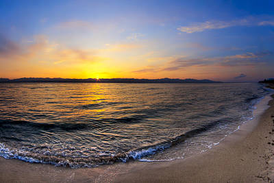 Photograph - The Sun Rises Over The Red Sea In Egypt by Mark E Tisdale