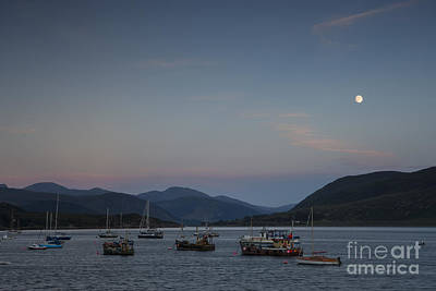 Photograph - The Sun Sets And The Moon Rises On Loch Broom by Howard Kennedy