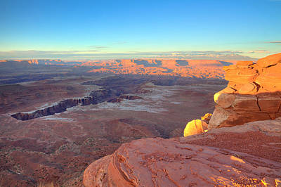 Photograph - The Sun Sets On Canyonlands National Park In Utah by Alan Vance Ley