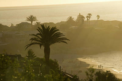 Arial View Photograph - The Sun Sets On Clifton Fourth Beach by Samantha Reinders